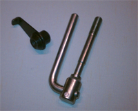 Handle bar lock nut and handle bar lever for Honda Trencher - Tillers