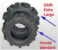Honda extra large replacement tires, Honda standard-stock tires, and tire tubes